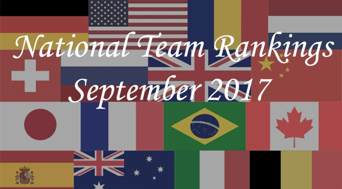 National Team Rankings – September 2017