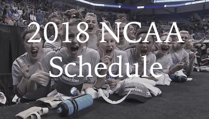 2018 NCAA Schedule