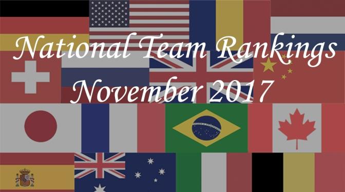 National Team Rankings – November 2017