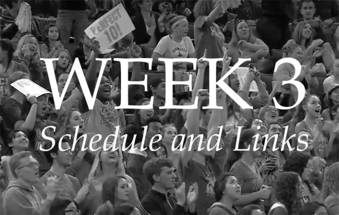 NCAA Week 3 – Schedule and Links