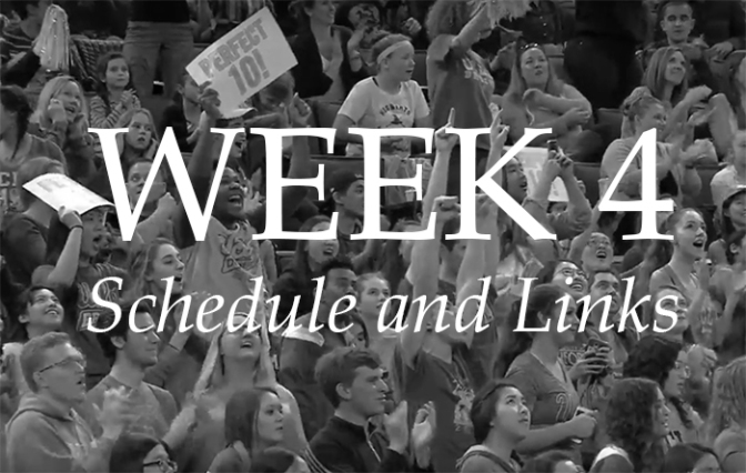 NCAA Week 4 – Schedule and Links