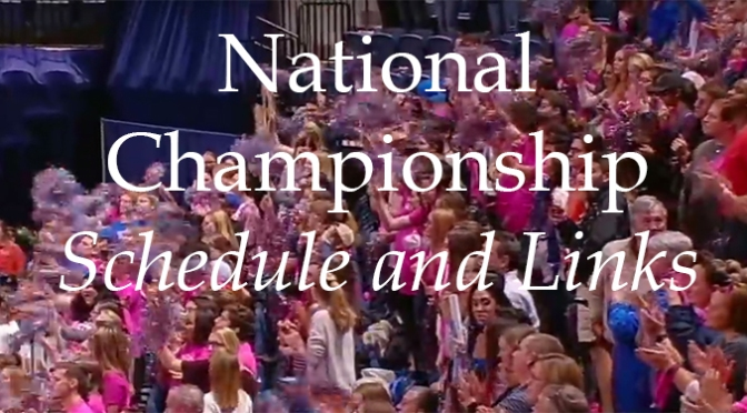 National Championship – Schedule and Links