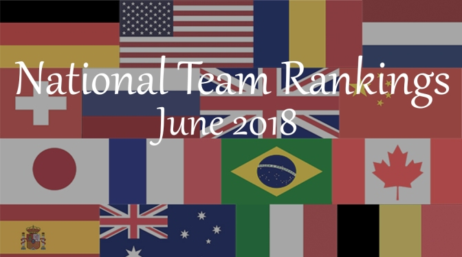 National Team Rankings – June 2018