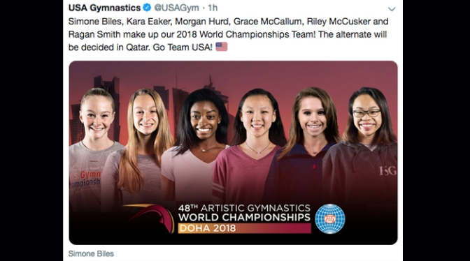 US World Championships Team Named