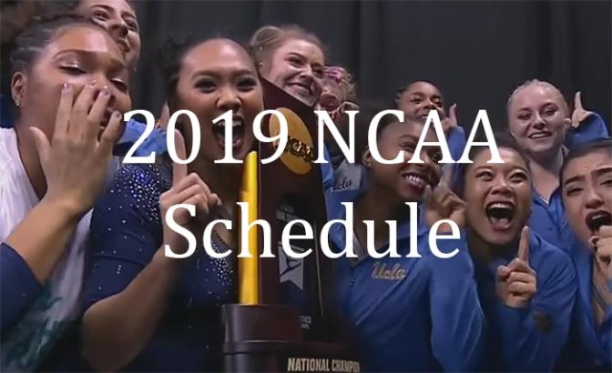 2019 NCAA Schedule