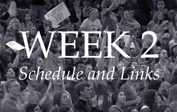 NCAA Week 2 – Schedule and Links