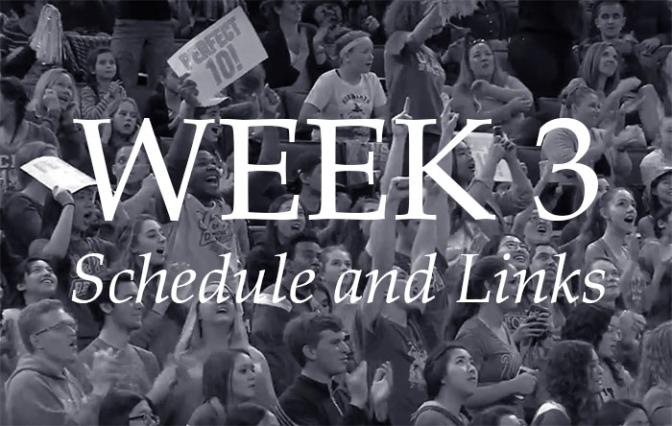 NCAA Week 3 –Schedule and Links