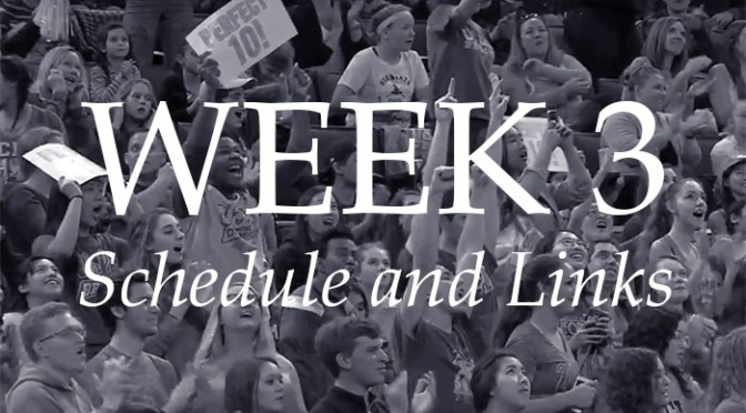 NCAA Week 3 – Schedule and Links