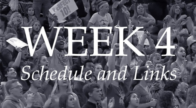 NCAA Week 4 – Schedule and Links