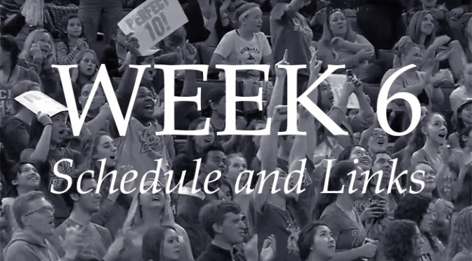 NCAA Week 6 –Schedule and Links