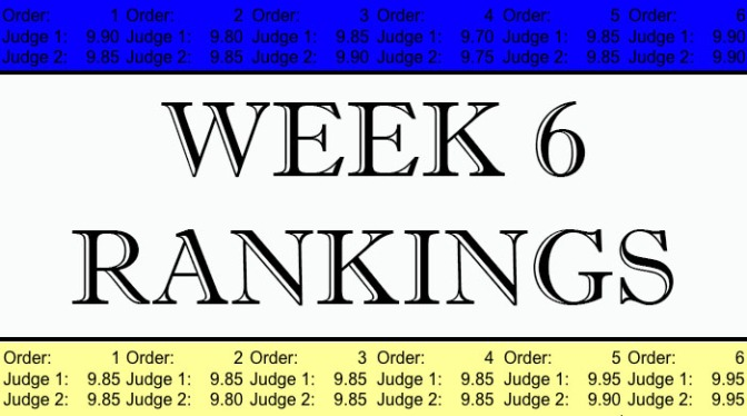 Week 6 Ranking Notes