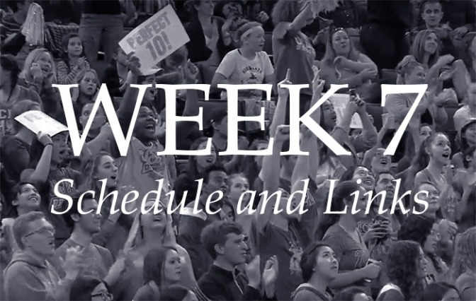 NCAA Week 7 – Schedule and Links