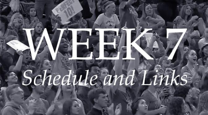 NCAA Week 7 –Schedule and Links