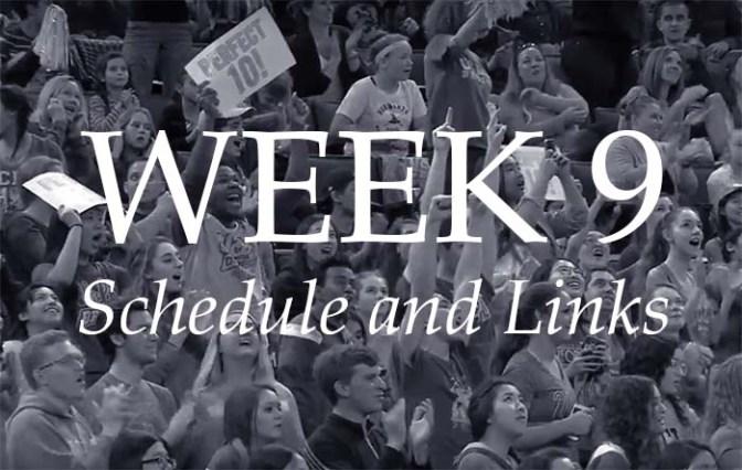 NCAA Week 9 – Schedule and Links
