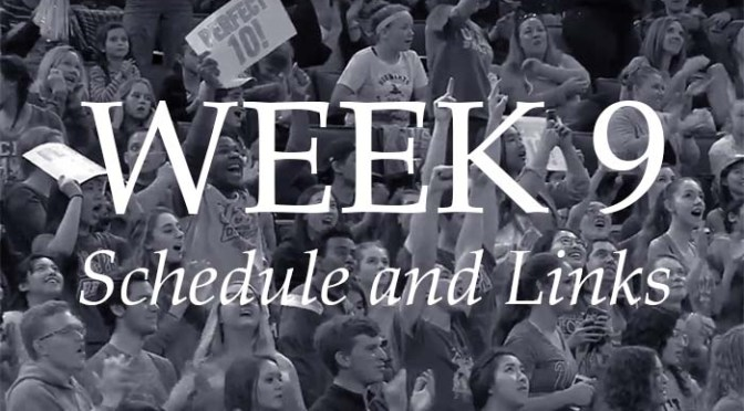NCAA Week 9 –Schedule and Links
