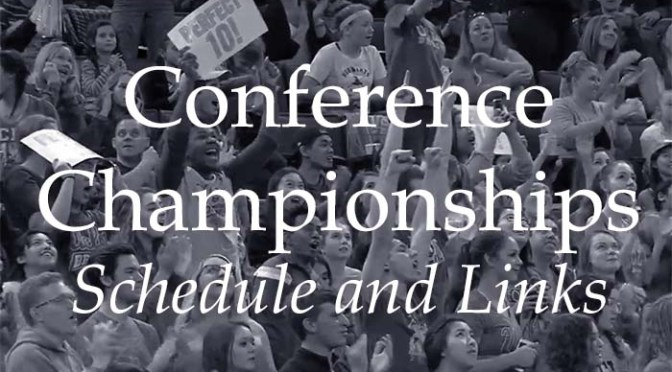 Conference Championships – Schedule and Links