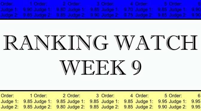 Ranking Watch: Week 9