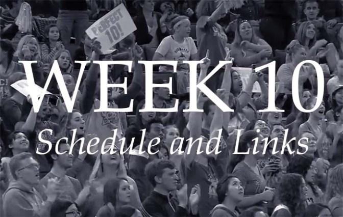NCAA Week 10 –Schedule and Links
