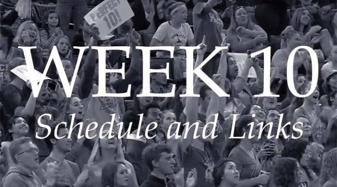 NCAA Week 10 – Schedule and Links