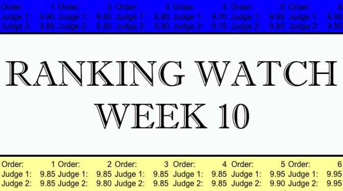 Ranking Watch: Week 10