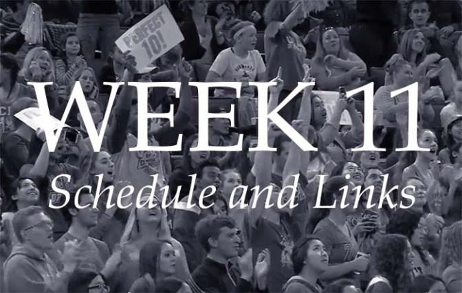 NCAA Week 11 – Schedule and Links