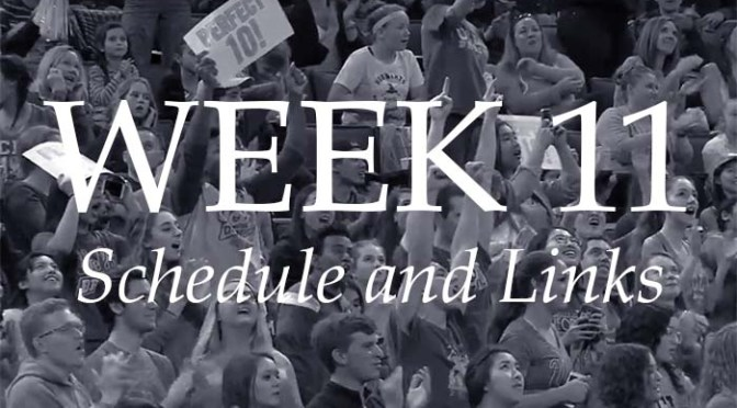 NCAA Week 11 – Schedule and Links