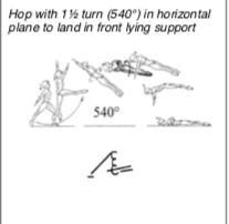 Hop 1.5 to front support