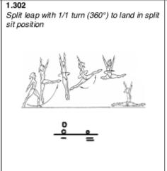 Split leap full to sit split