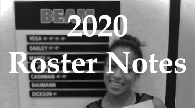 2020 NCAA Roster Notes