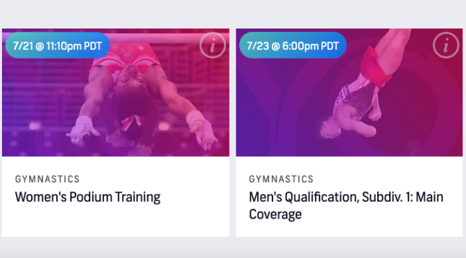 Olympic Links and Session Previews